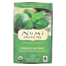 Load image into Gallery viewer, Numi Tea Moroccan Mint - Caffeine Free - 18 Bags