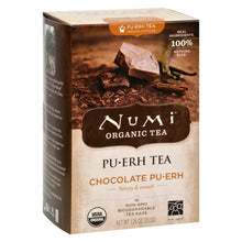 Load image into Gallery viewer, Numi Tea Organic Chocolate Pu-erh - Case Of 6 - 16 Bag