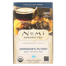 Load image into Gallery viewer, Numi Emperor's Puerh Black Tea - 16 Tea Bags - Case Of 6