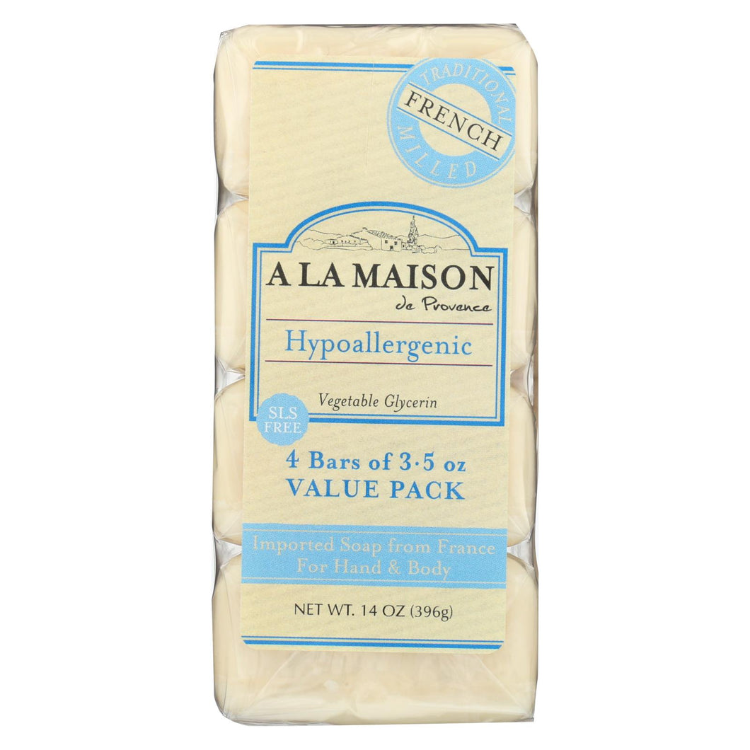 A La Maison - Bar Soap - Unscented Value Pack - 3.5 Oz Each - Pack Of 4
