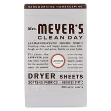 Load image into Gallery viewer, Mrs. Meyer's Clean Day - Dryer Sheets - Lavender - Case Of 12 - 80 Sheets