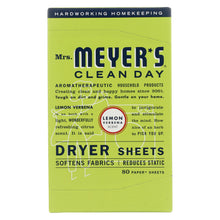 Load image into Gallery viewer, Mrs. Meyer's Clean Day - Dryer Sheets - Lemon Verbena - Case Of 12 - 80 Sheets