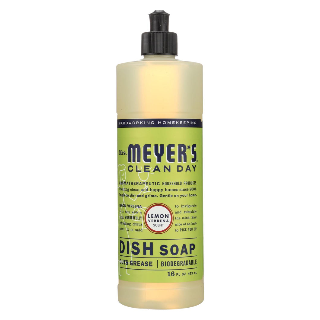 Mrs. Meyer's Clean Day - Liquid Dish Soap - Lemon Verbena - Case Of 6 - 16 Oz