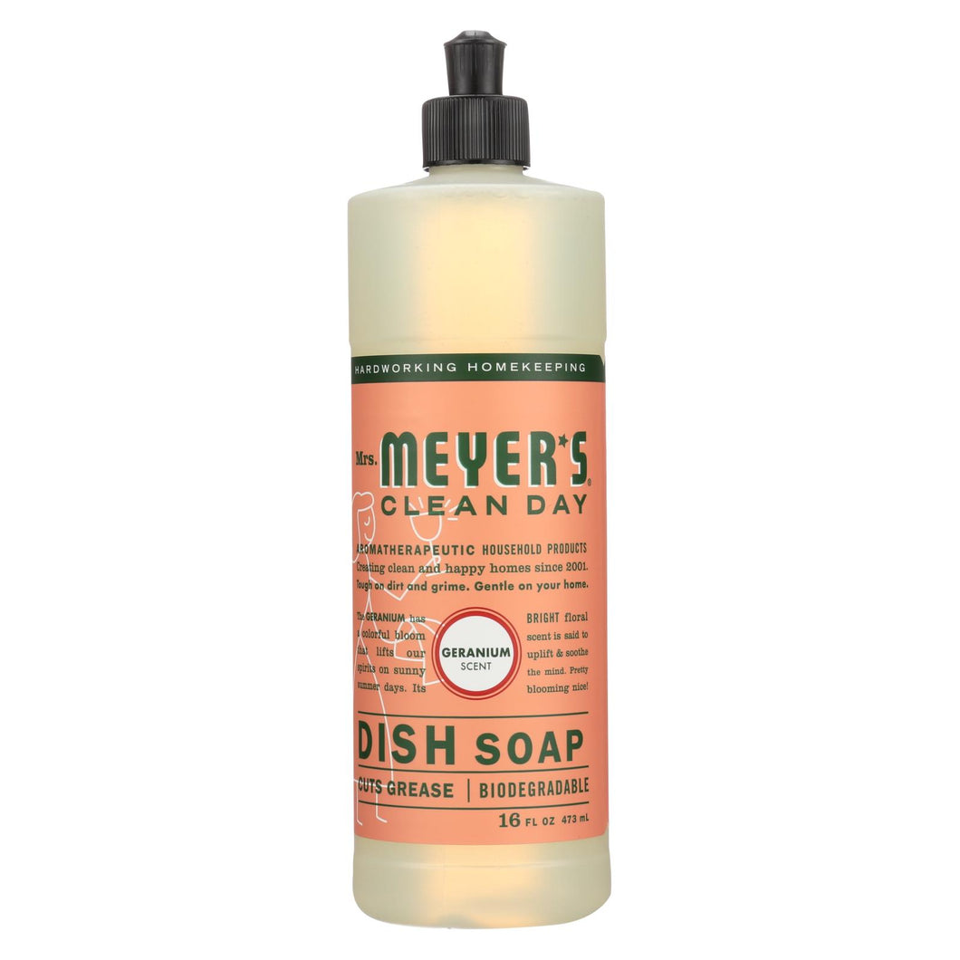 Mrs. Meyer's Clean Day - Liquid Dish Soap - Geranium - Case Of 6 - 16 Oz