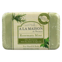 Load image into Gallery viewer, A La Maison - Bar Soap - Rosemary Mint - 8.8 Oz