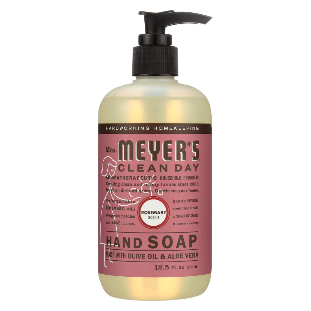 Mrs. Meyer's Clean Day - Liquid Hand Soap - Rosemary - Case Of 6 - 12.5 Oz