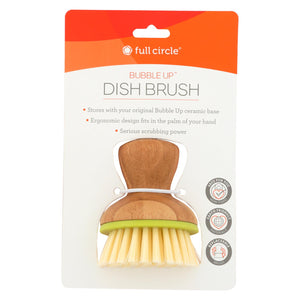 Full Circle Home Replacement Brush - Bubble Up Green - 6 Ct