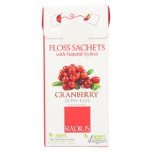 Load image into Gallery viewer, Radius - Floss Sachets With Natural Xylitol - Cranberry - Case Of 20