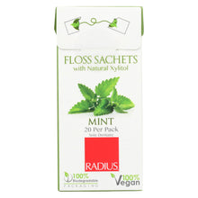 Load image into Gallery viewer, Radius - Floss Sachets With Natural Xylitol - Mint - Case Of 20