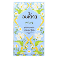 Load image into Gallery viewer, Pukka Herbal Teas Relax - Caffeine Free - Case Of 6 - 20 Bags