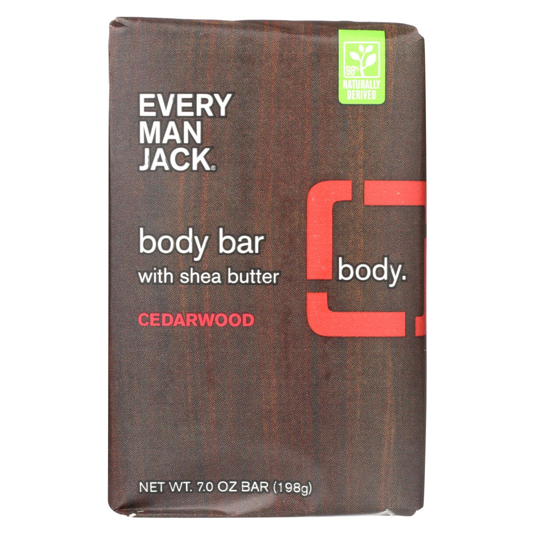 Every Man Jack Bar Soap - Body Bar - Cedarwood - 7 Oz - 1 Each