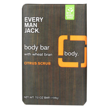 Load image into Gallery viewer, Every Man Jack Bar Soap - Body Bar - Citrus Scrub - 7 Oz - 1 Each