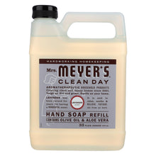 Load image into Gallery viewer, Mrs. Meyer's Clean Day - Liquid Hand Soap Refill - Lavender - Case Of 6 - 33 Fl Oz.