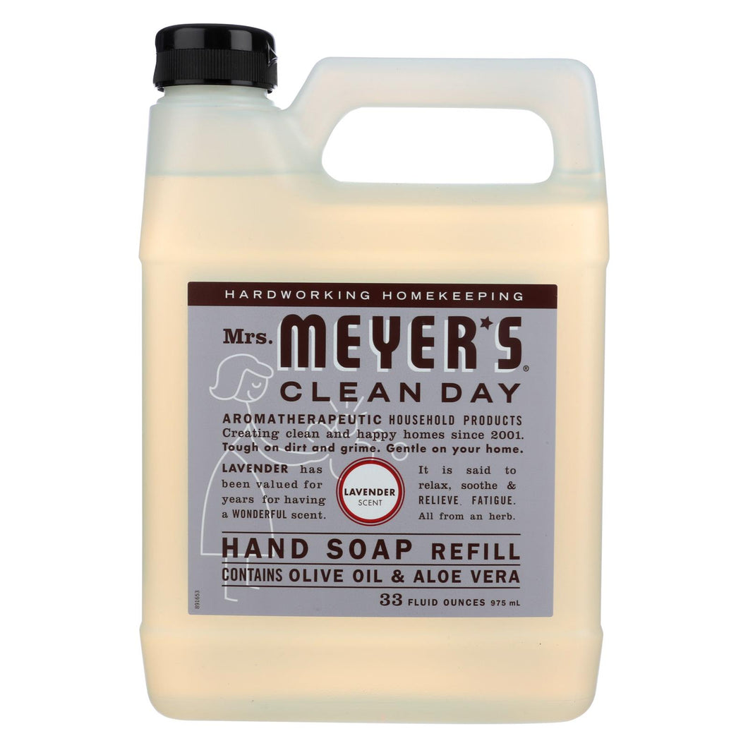 Mrs. Meyer's Clean Day - Liquid Hand Soap Refill - Lavender - Case Of 6 - 33 Fl Oz.