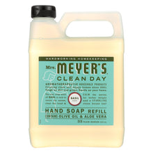 Load image into Gallery viewer, Mrs. Meyer's Clean Day - Liquid Hand Soap Refill - Basil - Case Of 6 - 33 Fl Oz.