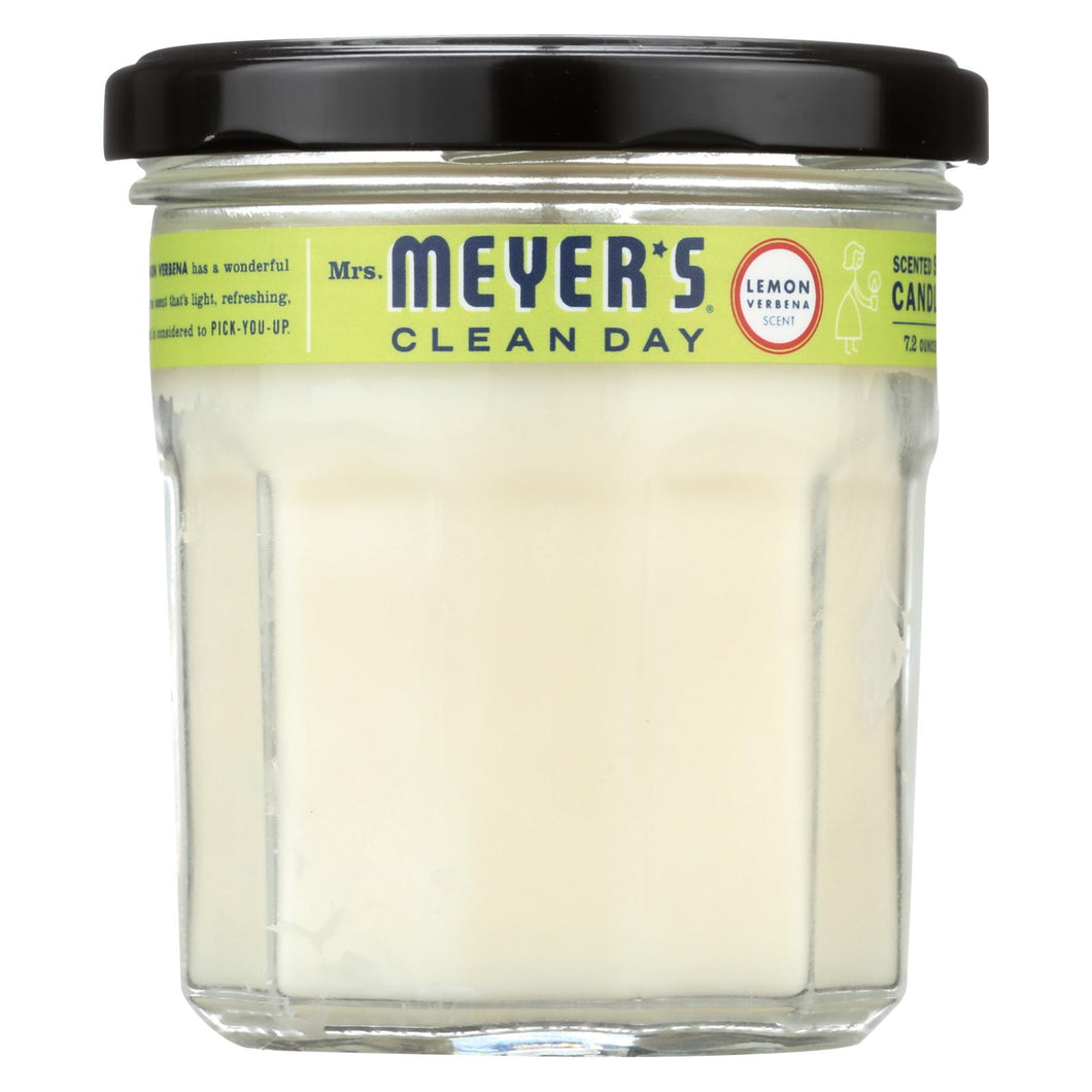 Mrs. Meyer's Clean Day - Soy Candle - Lemon Verbena - 7.2 Oz Candle