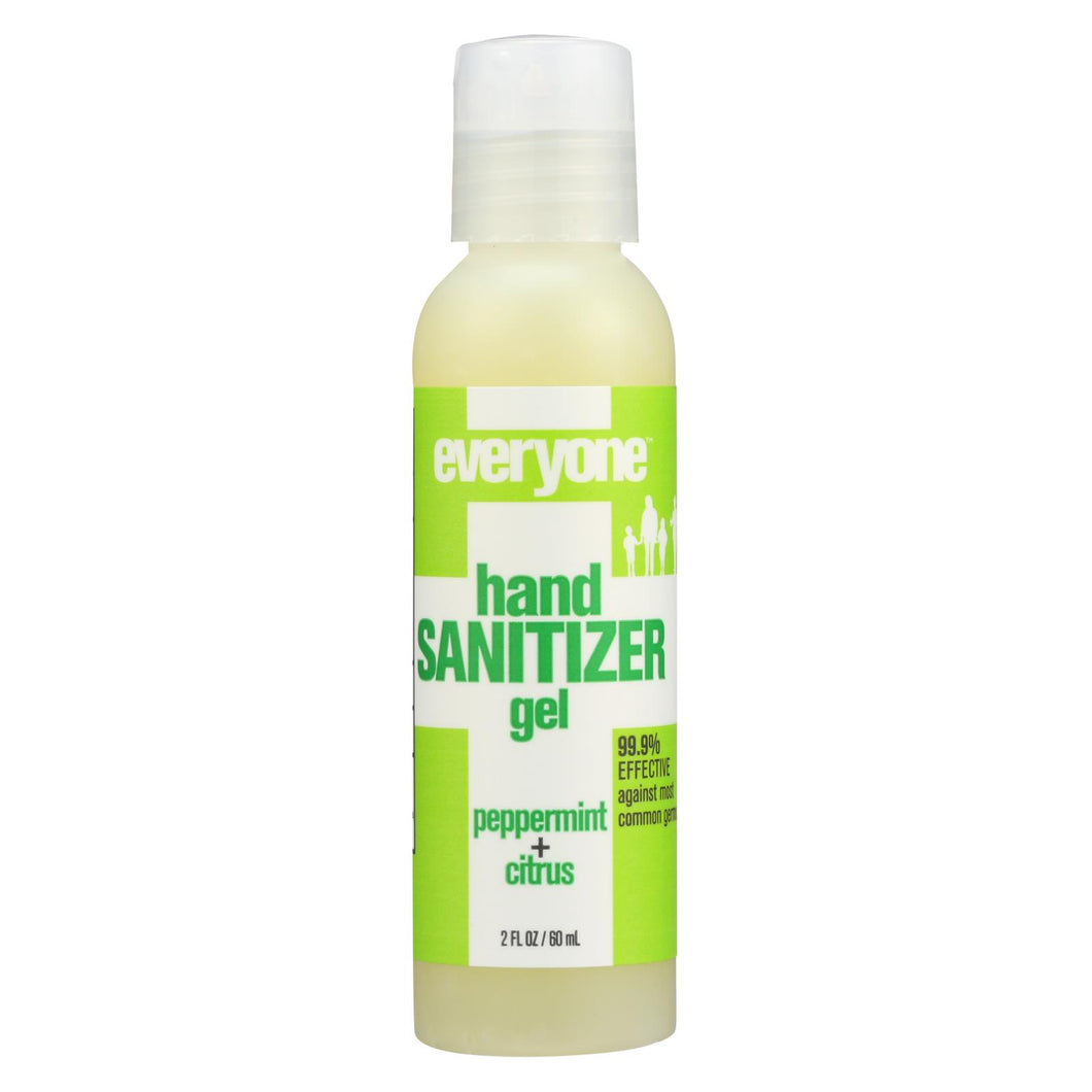 Eo Products - Hand Sanitizer Gel - Everyone - Peppermnt - Dsp - 2 Oz - 1 Case