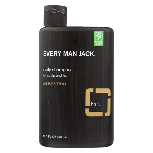 Every Man Jack Daily Shampoo - Scalp And Hair - All Hair Types - Sandalwood - 13.5 Oz