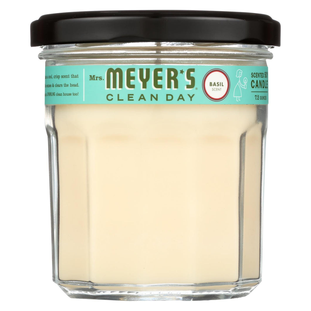 Mrs. Meyer's Clean Day - Soy Candle - Basil - 7.2 Oz - Case Of 6