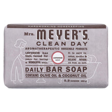 Load image into Gallery viewer, Mrs. Meyer's Clean Day - Bar Soap - Lavender - 5.3 Oz - Case Of 12