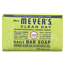 Load image into Gallery viewer, Mrs. Meyer's Clean Day - Bar Soap - Lemon Verbena - 5.3 Oz - Case Of 12