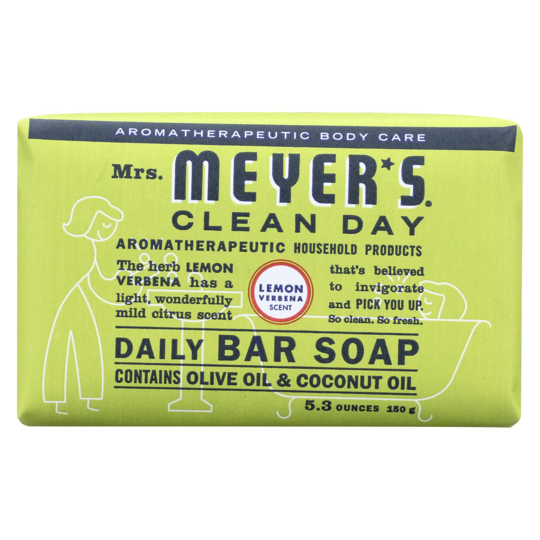 Mrs. Meyer's Clean Day - Bar Soap - Lemon Verbena - 5.3 Oz - Case Of 12