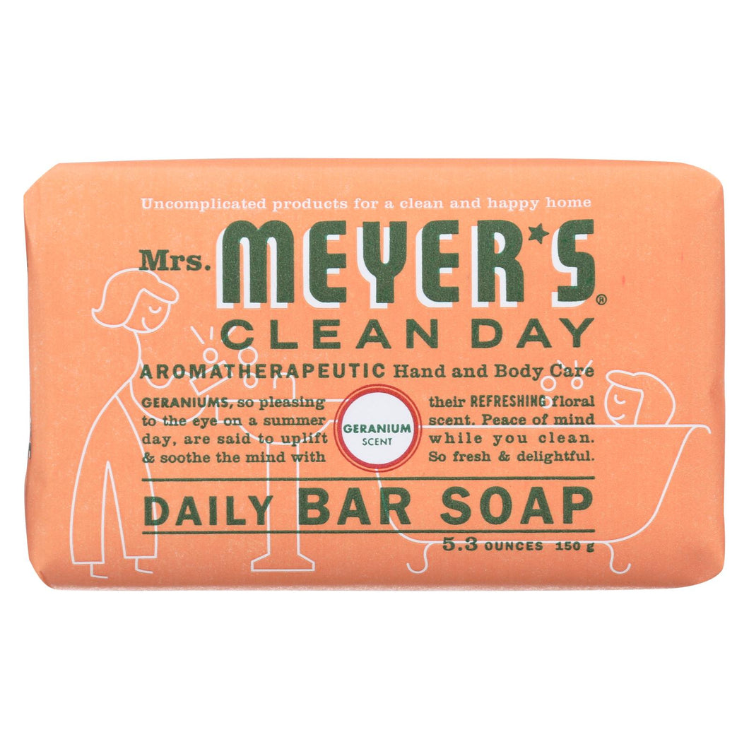 Mrs. Meyer's Clean Day - Bar Soap - Geranium - 5.3 Oz - Case Of 12