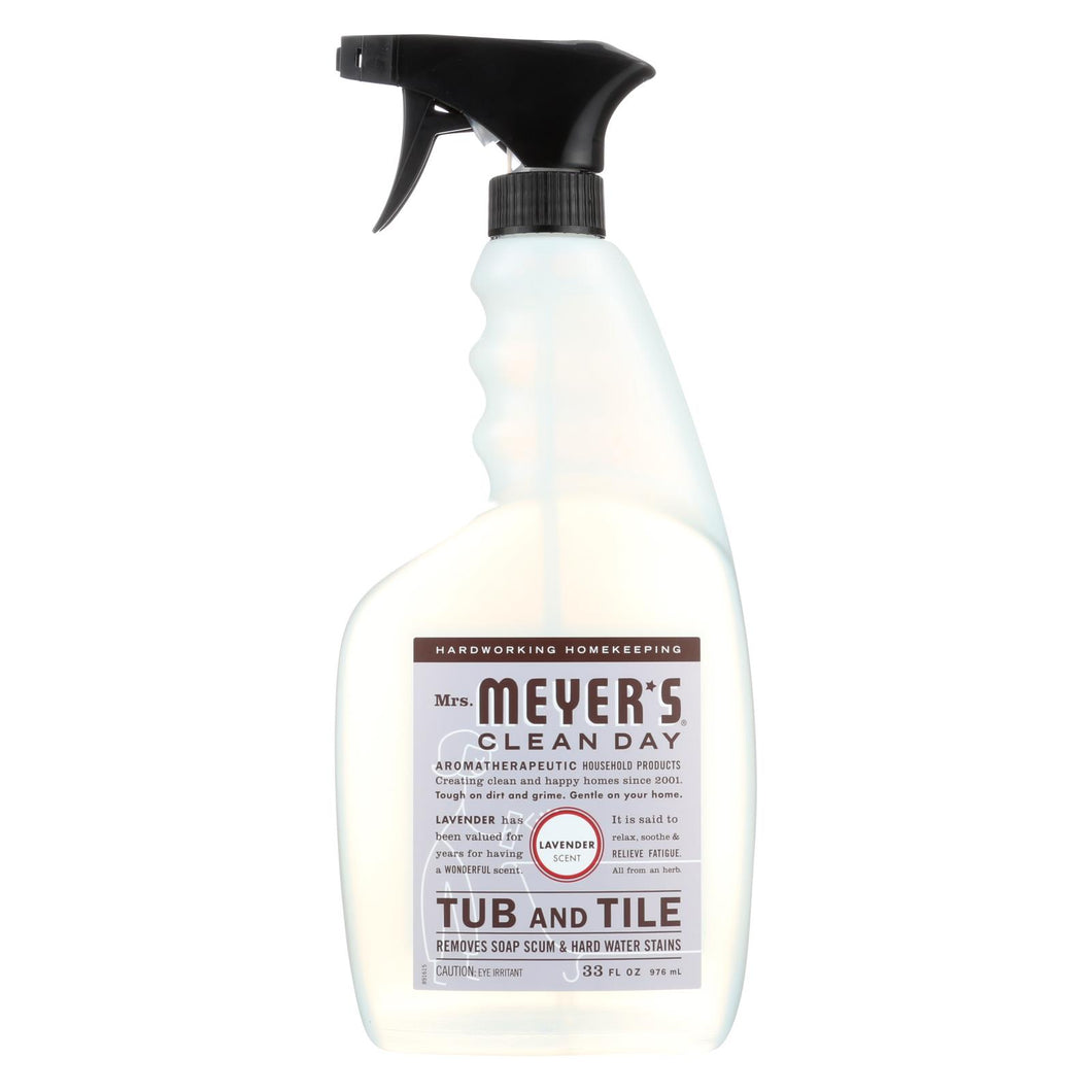 Mrs. Meyer's Clean Day - Tub And Tile Cleaner - Lavender - 33 Fl Oz - Case Of 6