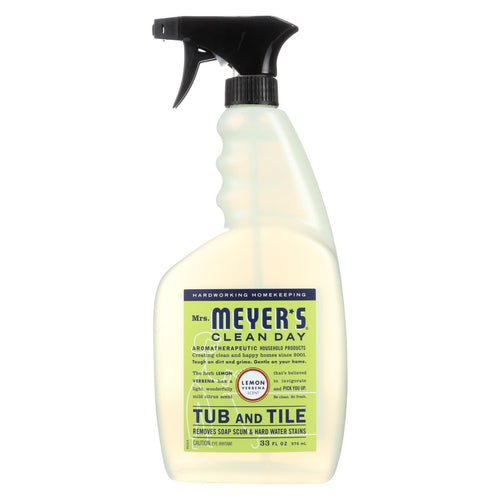 Mrs. Meyer's Clean Day - Tub And Tile Cleaner - Lemon Verbena - 33 Fl Oz - Case Of 6