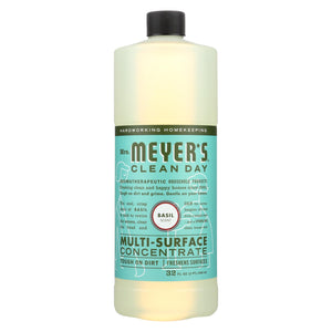 Mrs. Meyer's Clean Day - Multi Surface Concentrate - Basil - 32 Fl Oz - Case Of 6