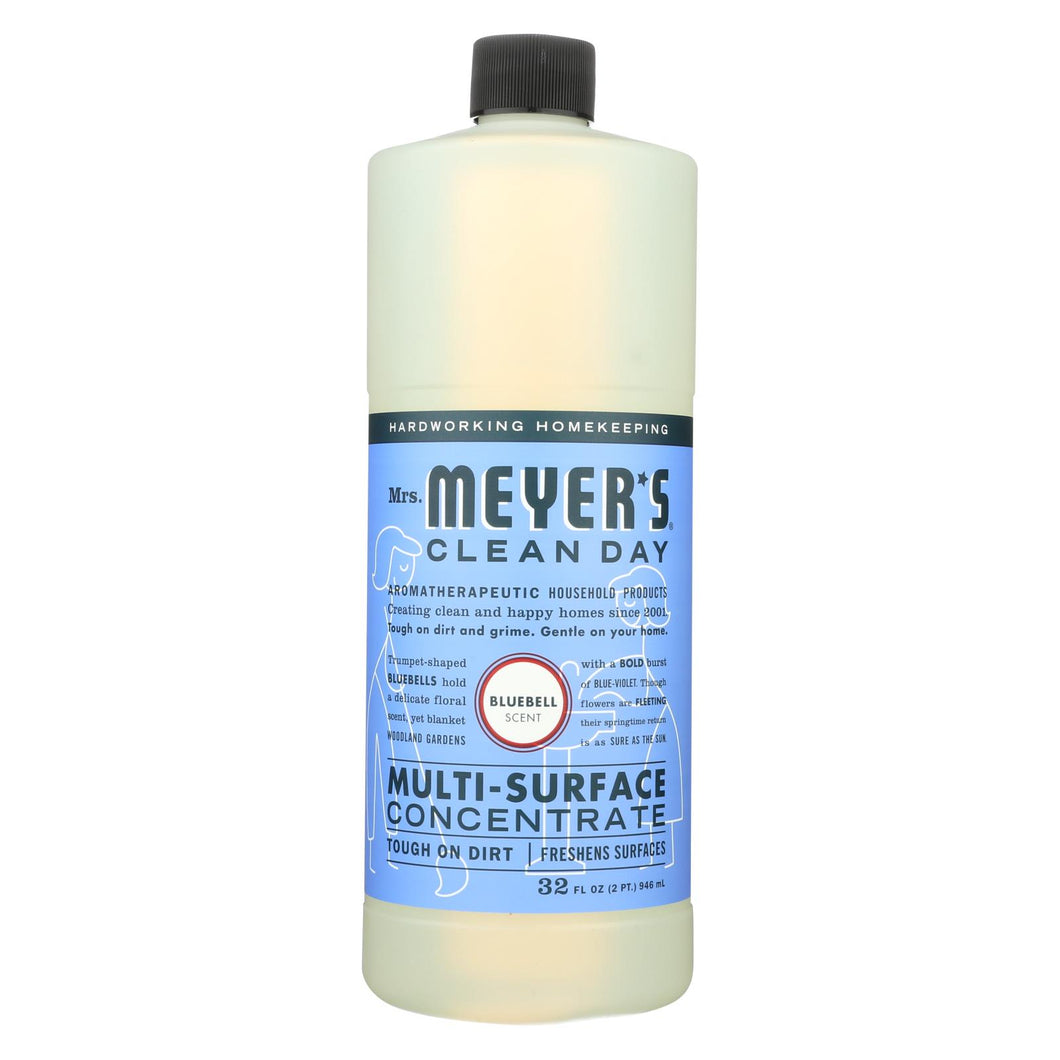 Mrs. Meyer's Clean Day - Multi Surface Concentrate - Blubell - 32 Fl Oz - Case Of 6
