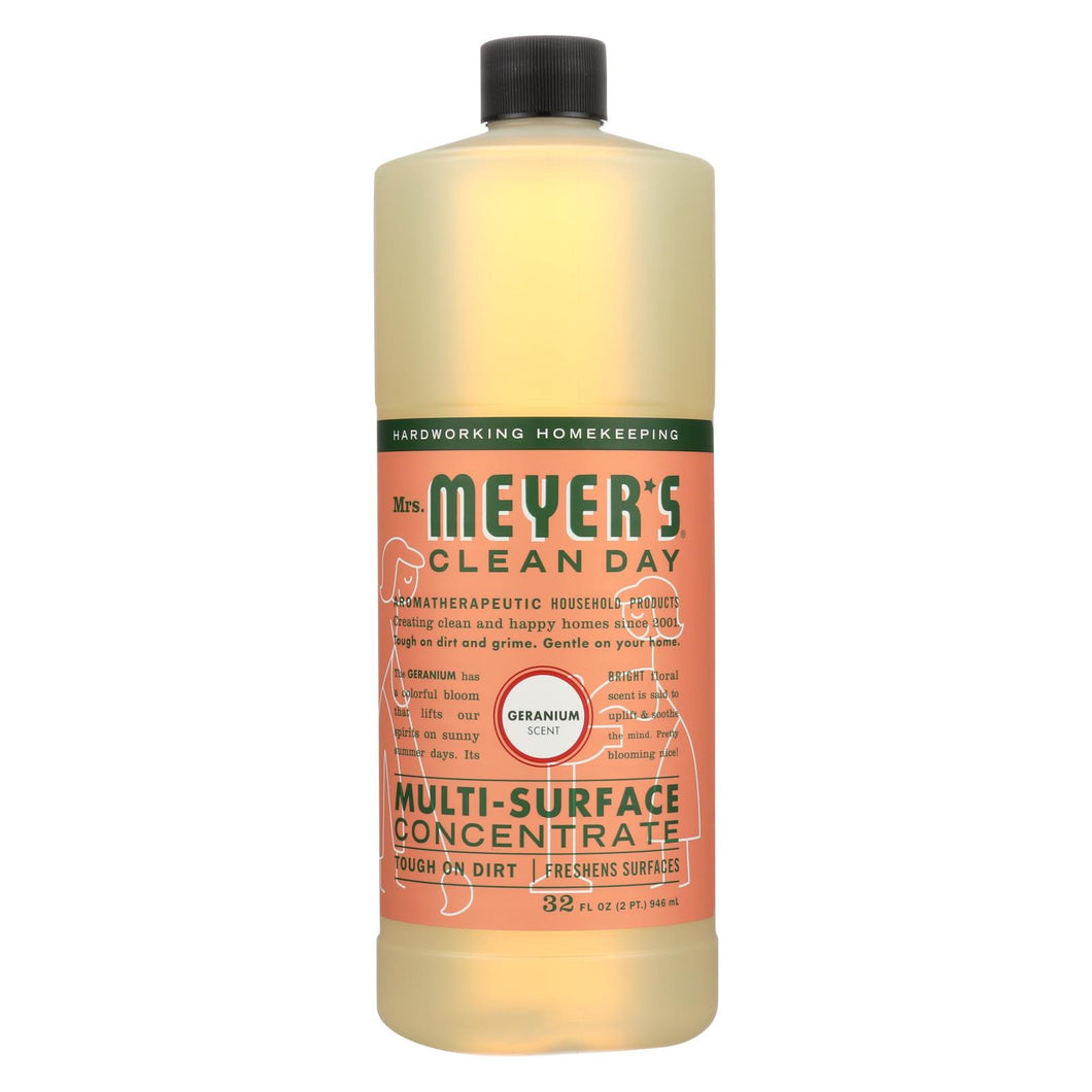 Mrs. Meyer's Clean Day - Multi Surface Concentrate - Geranium - 32 Fl Oz - Case Of 6