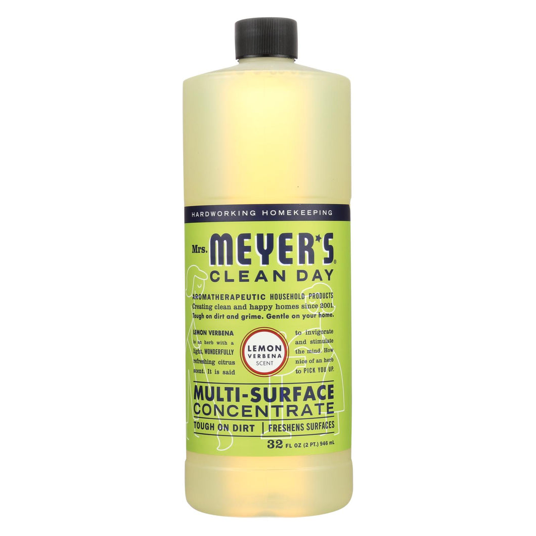 Mrs. Meyer's Clean Day - Multi Surface Concentrate - Lemon Verbena - 32 Fl Oz - Case Of 6
