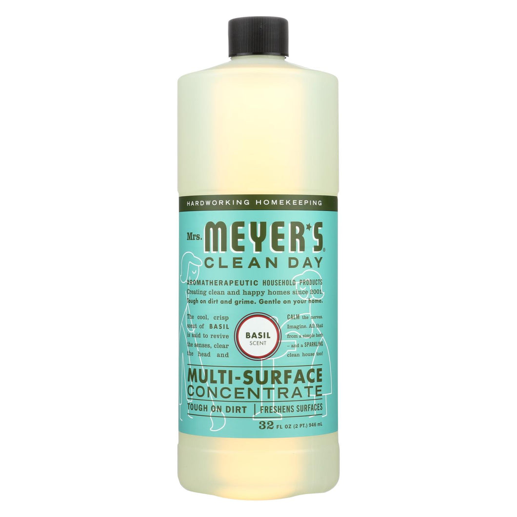 Mrs. Meyer's Clean Day - Multi Surface Concentrate - Basil - 32 Fl Oz