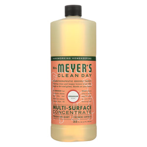 Mrs. Meyer's Clean Day - Multi Surface Concentrate - Geranium - 32 Fl Oz