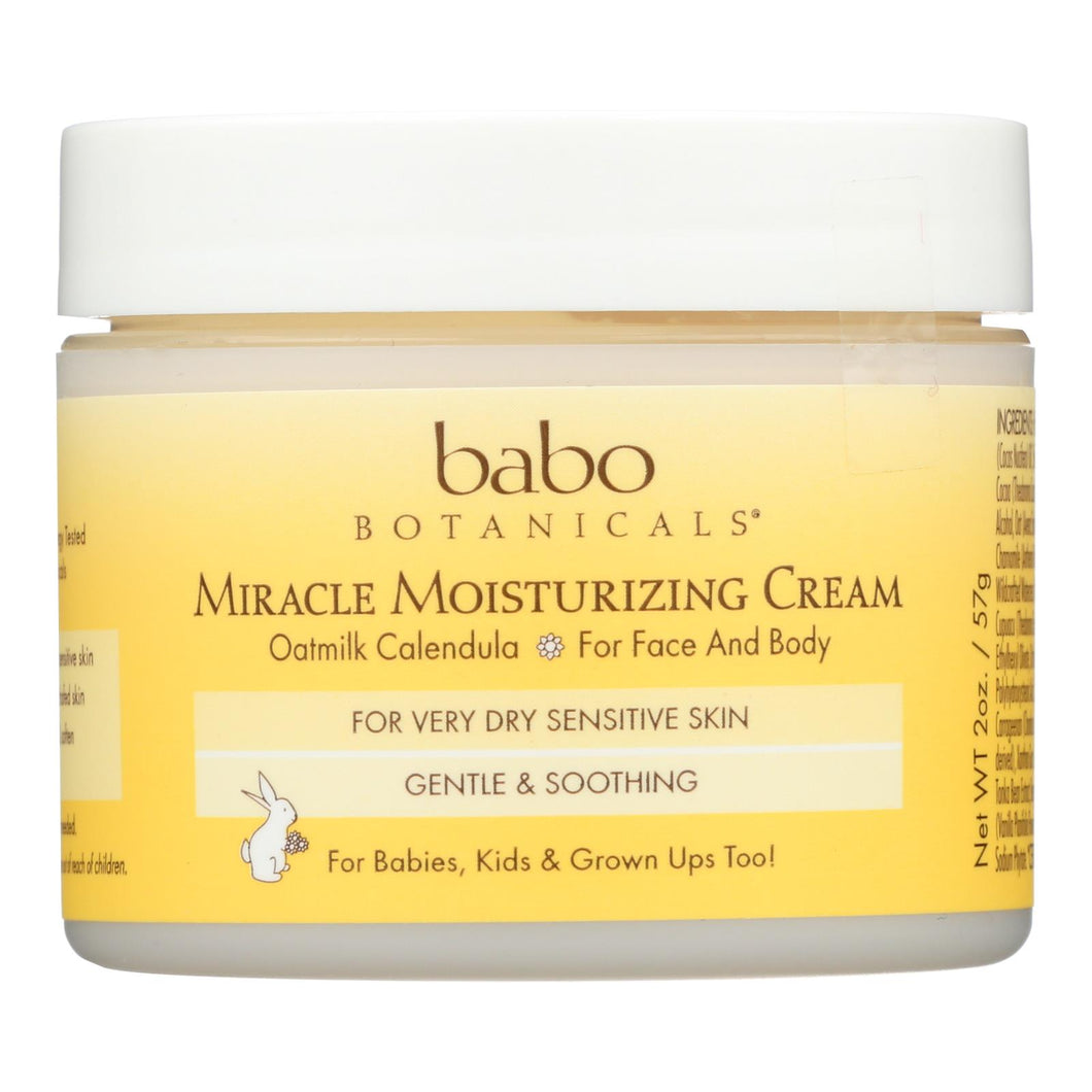 Babo Botanicals - Miracle Cream - Moisturizing - Oatmilk - 2 Oz