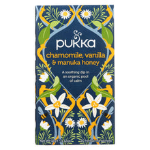 Load image into Gallery viewer, Pukka Herbal Teas Tea - Organic - Chamomile Vanilla And Manuka Honey - 20 Bags - Case Of 6