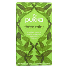 Load image into Gallery viewer, Pukka Herbal Teas Tea - Organic - Three Mint - 20 Bags - Case Of 6