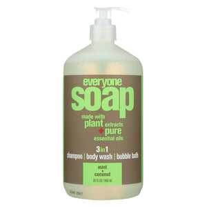 Eo Products - Hand Soap - Natural - Everyone - Liquid - Mint And Coconut - 32 Oz