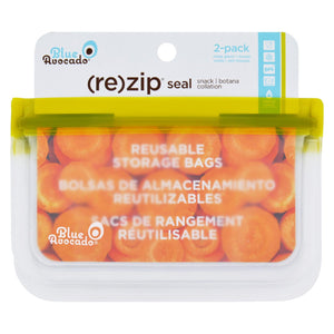 Blue Avocado - Bag - Re-zip - Snack - Green - 2 Count