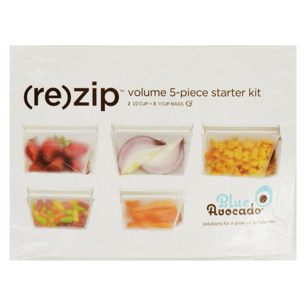 Blue Avocado - Bag - Re-zip - Volume Starter Kit - Clear - 5 Pieces