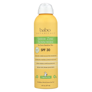 Babo Botanicals - Sunscreen - Fragrance Free - Case Of 1 - 6 Fl Oz.