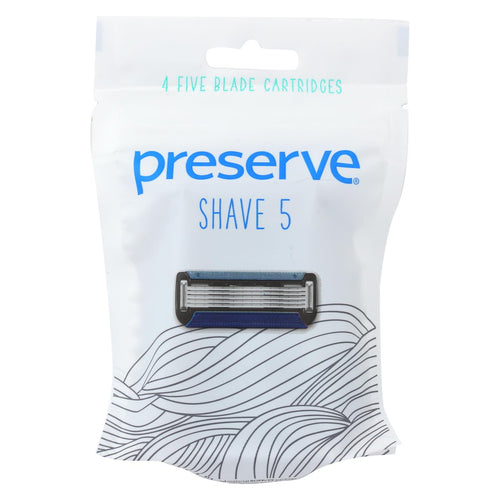 Preserve Shave 5 Replacement Blades - 4 Ct- 6 Packs