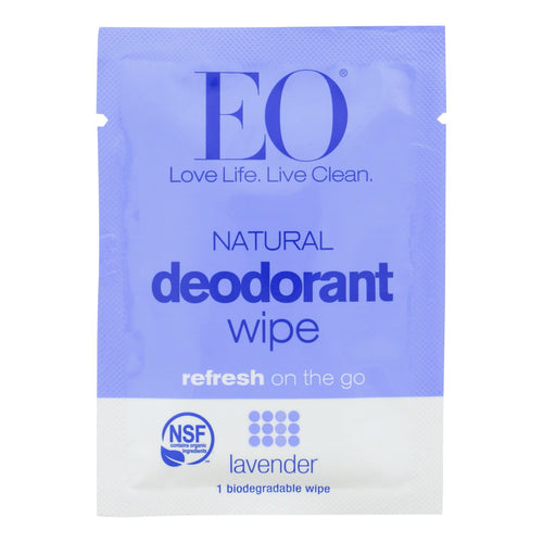 Eo Products - Deodorant Wipes - Lavender - Case Of 24 - 1 Each
