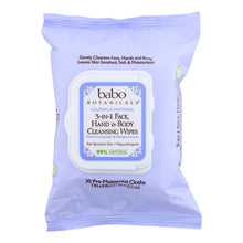 Load image into Gallery viewer, Babo Botanicals - Hand And Body Cleansing Wipes - Lavender And Meadowsweet - Case Of 4 - 30 Count