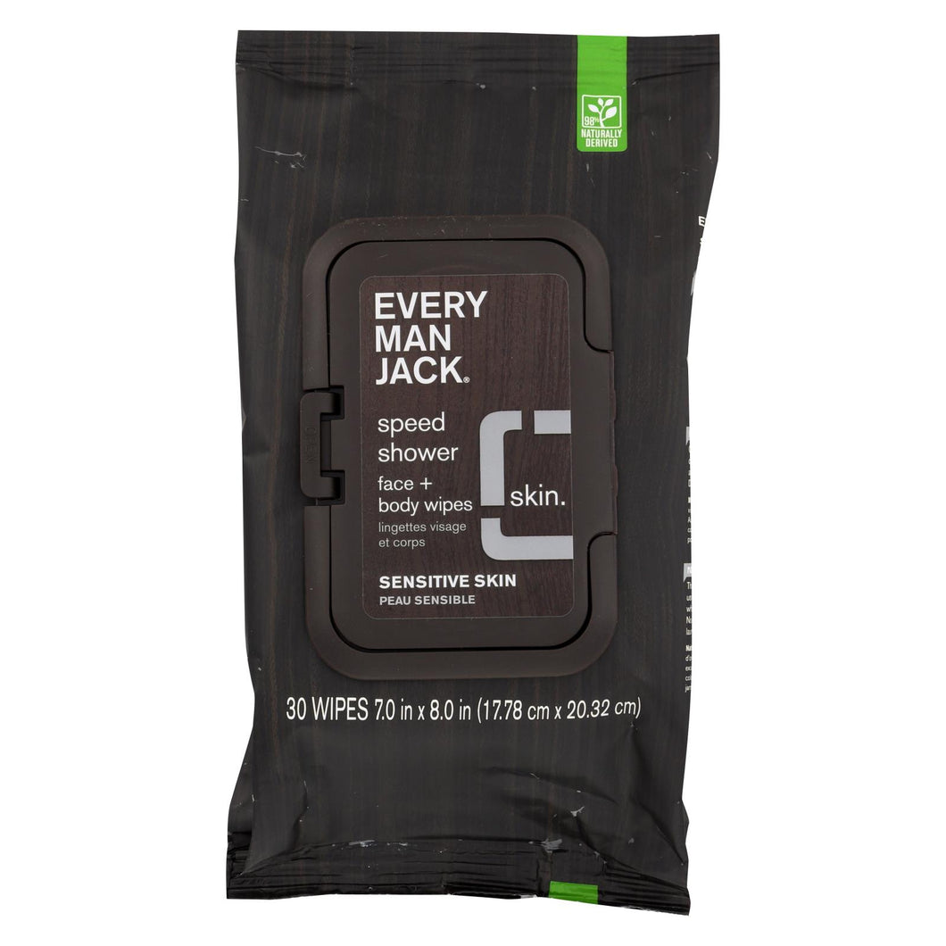 Every Man Jack Wipes - Shower - Face - Body - Case Of 4 - 30 Count