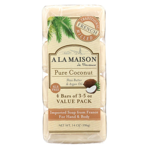 A La Maison - Bar Soap - Pure Coconut - 4-3.5 Oz