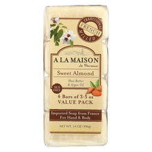 Load image into Gallery viewer, A La Maison - Bar Soap - Sweet Almond - 4-3.5 Oz