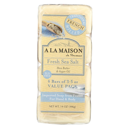 A La Maison - Bar Soap - Fresh Sea Salt - 4-3.5 Oz