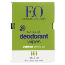 Load image into Gallery viewer, Eo Products - Deodorant Wipes - Tea Tree - Case Of 12 - 6 Count